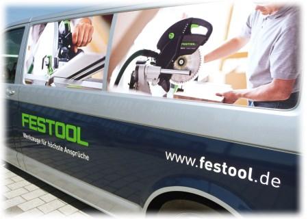 Festool Transporter Slogan Werkzeuge für höchste Ansprüche