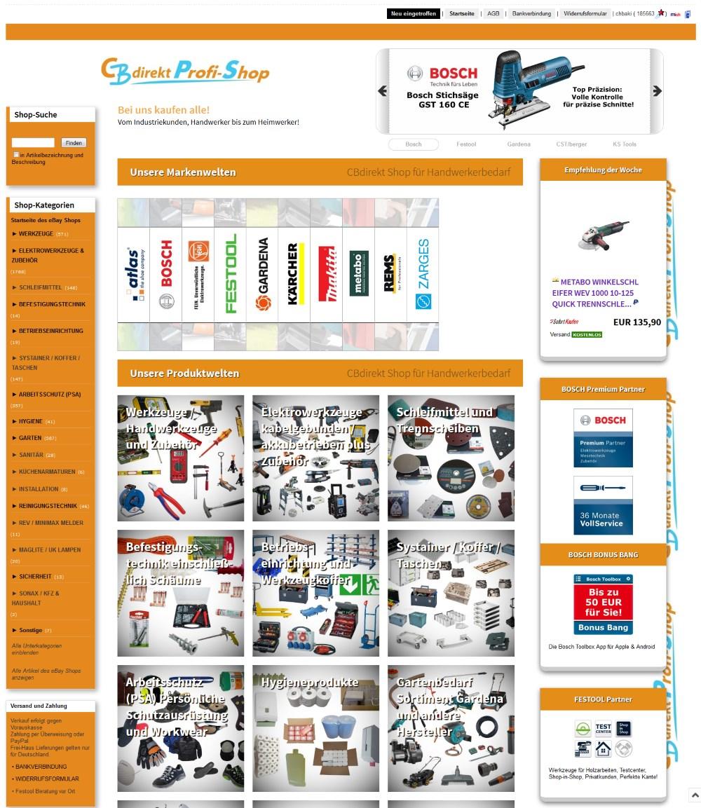 CBdirekt Shop in Ebay - Neue Startseite des Shop