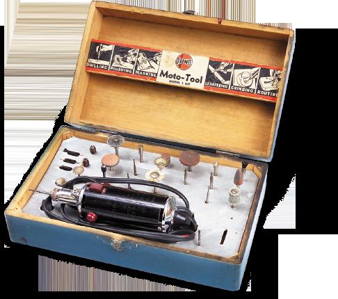 1935 brachte Dremel das erste Multifunktionswerkzeug auf den Markt