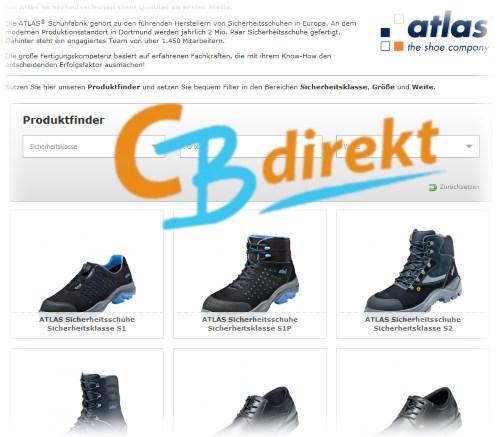 Atlas Schuhfabrik Arbeitsschuhe Sortiment bei CBdirekt