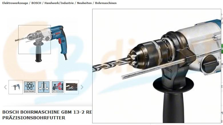 Bohrmaschine GBM 13-2 RE Professional mit Präzisionsbohrfutter
