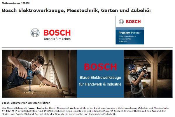 Bosch Markenwelt im CBdirekt Online Shop für Werkzeug, Maschinen, Betriebsausstattung und Gartenbedarf