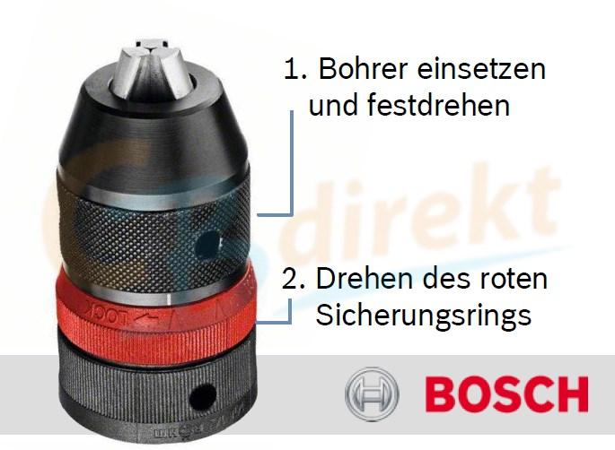 Anwendung Bosch Präzisionsbohrfutter