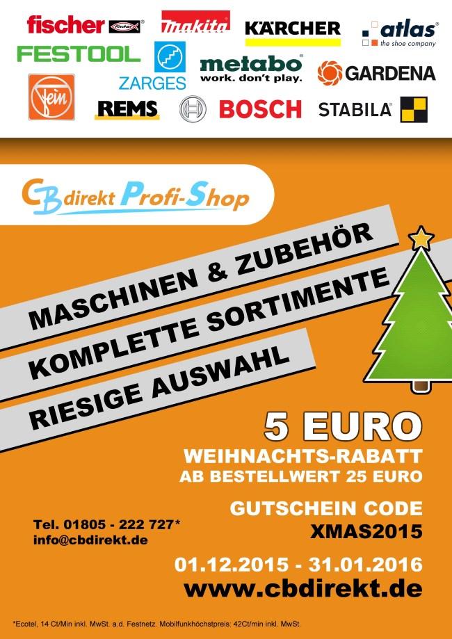 Cbdirekt Werkzeug Shop Weihnachts Rabatt Aktion 2015
