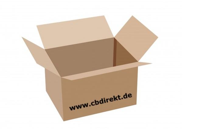 Versandkarton mit CBdirekt Schriftzug