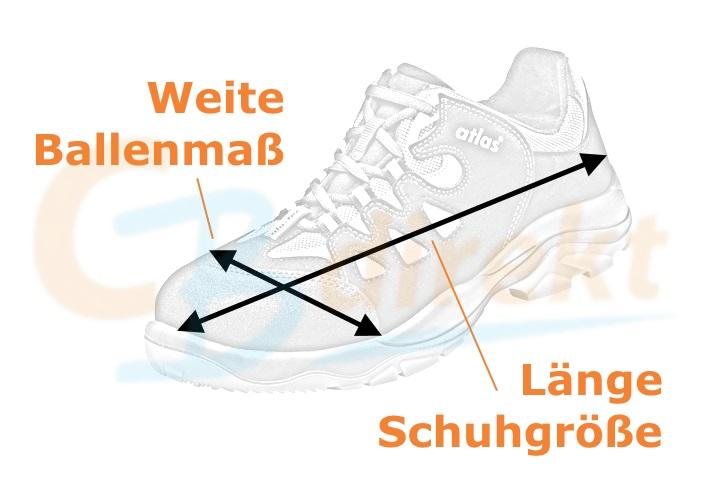 Atlas Schuhe Größe ermitteln