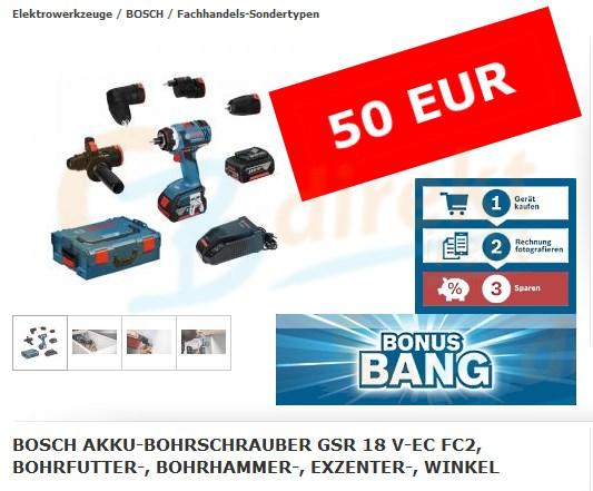Bosch GSR 18 V-EC FC2 Bonus Bang März 2016