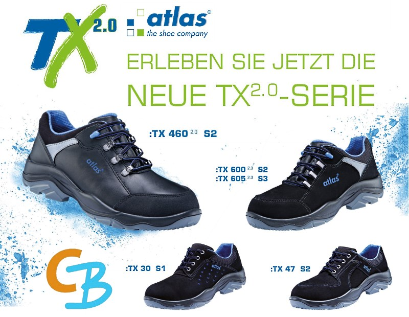 Neuheit ATLAS TX 2.0 Sicherheitsschuhe