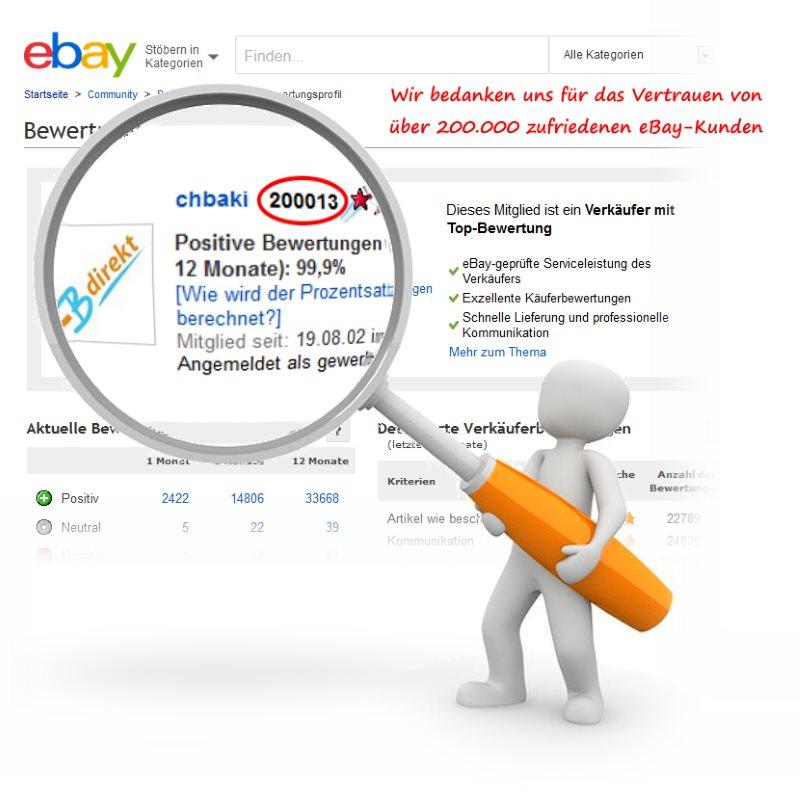 CBdirekt eBay Shop 200.000 Bewertungspunkte