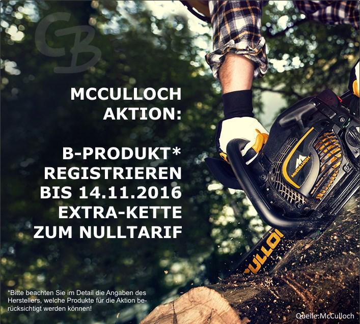 McCulloch Aktion Extra-Sägekette bis 14.11.2016