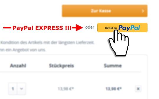 PayPal Express bei CBdirekt
