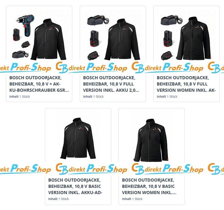 Bosch Beheizbare Jacken