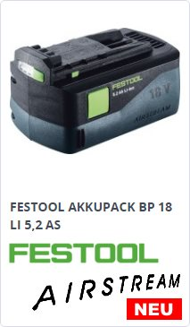 Festool BP 18 LI 5,2 AS