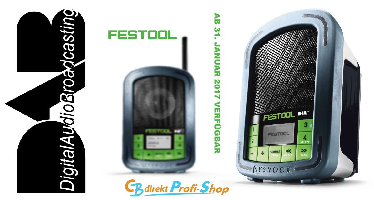 Festool SYSROCK BR 10 DAB+ Digitalradio für die Baustelle