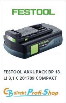 Festool Compact Akkupack BP 18 Li 3,1 C