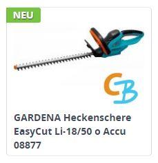 Gardena Akku-Heckenschere EasyCut Li-18/50 (8877)