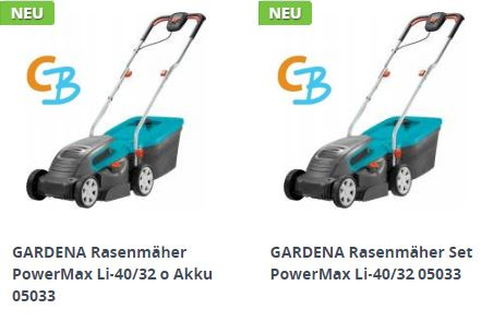 Gardena Akku-Rasenmäher PowerMax Li-40/32 (05033)