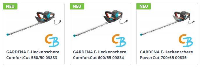 Gardena E-Heckenscheren NEU 2017