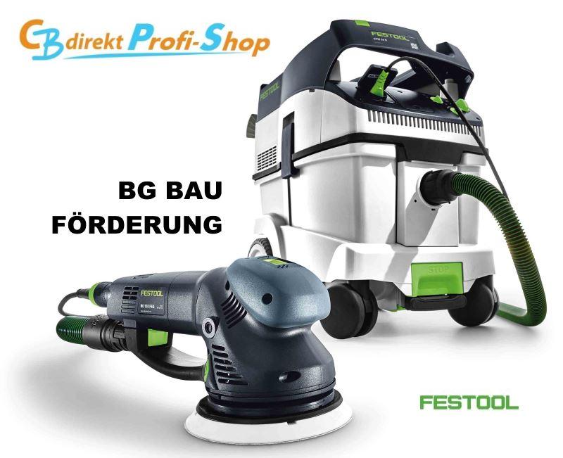 BG Bau Förderung Handmaschine mit Absaugeinheit