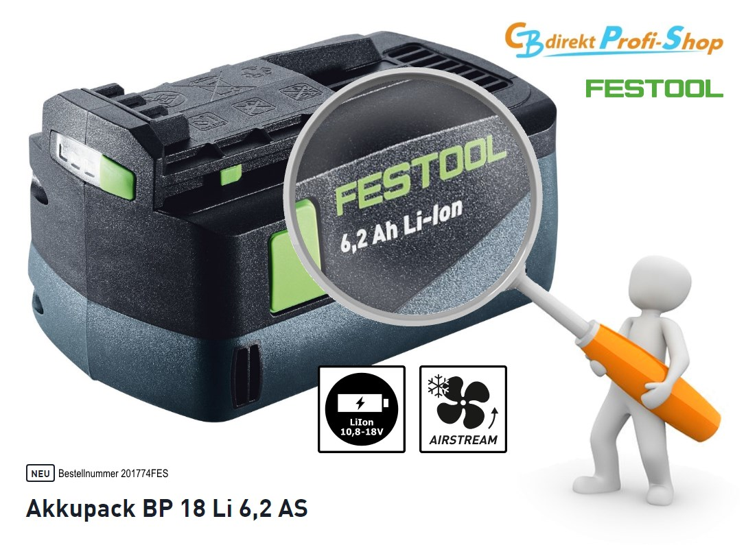 Festool Akkupack 201774 6,2 Ah 18 Volt