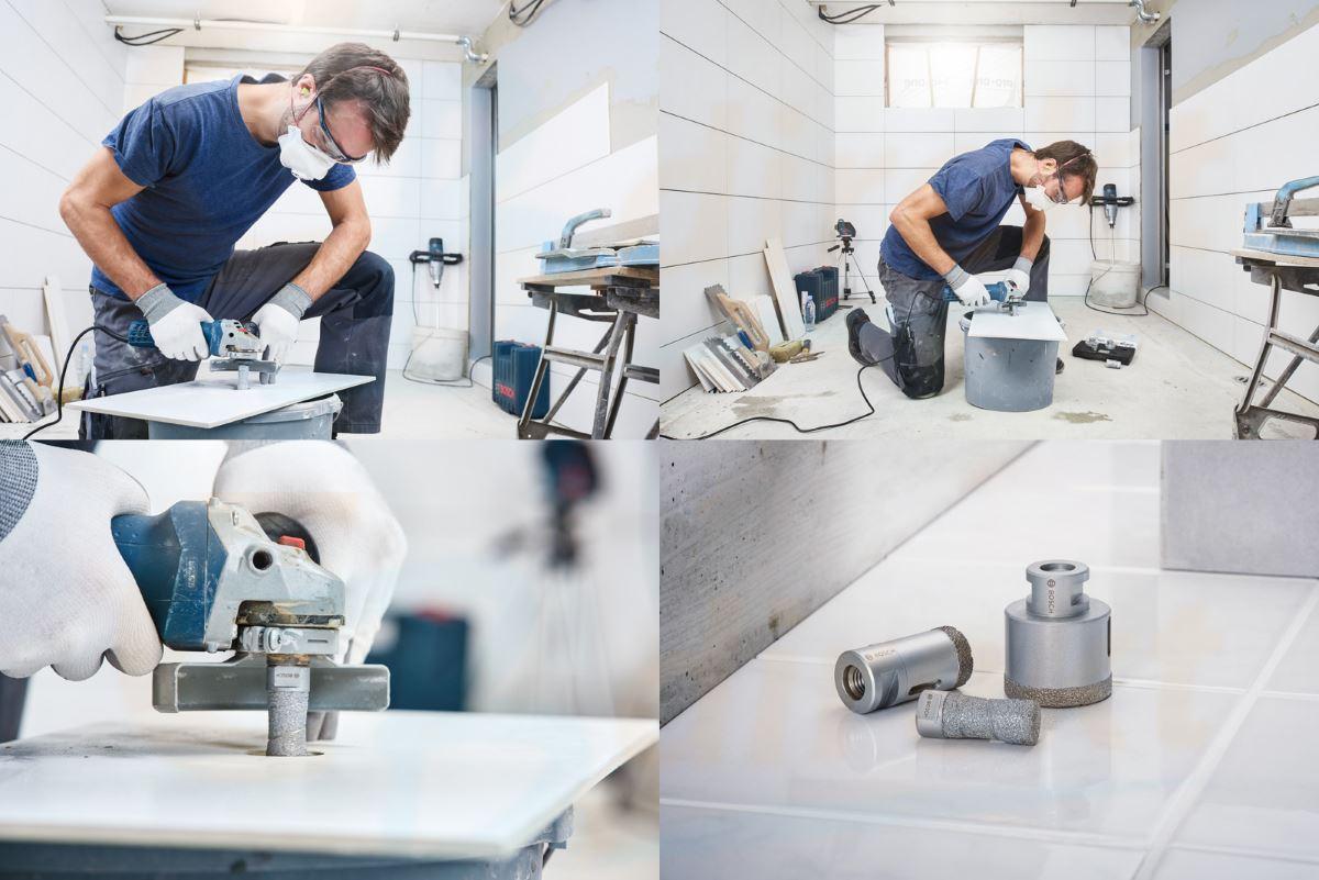 Bosch Diamantfräser Anwendungsbilder und Set