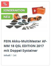 FEIN AFMM 18 QSL Jubiläums Edition 2017 mit Doppel-Systainer