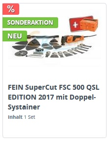 FEIN FSC 500 QSL Jubiläums Edition 2017 mit Doppel-Systainer