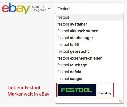 eBay Markenwelt Beispiel Festool