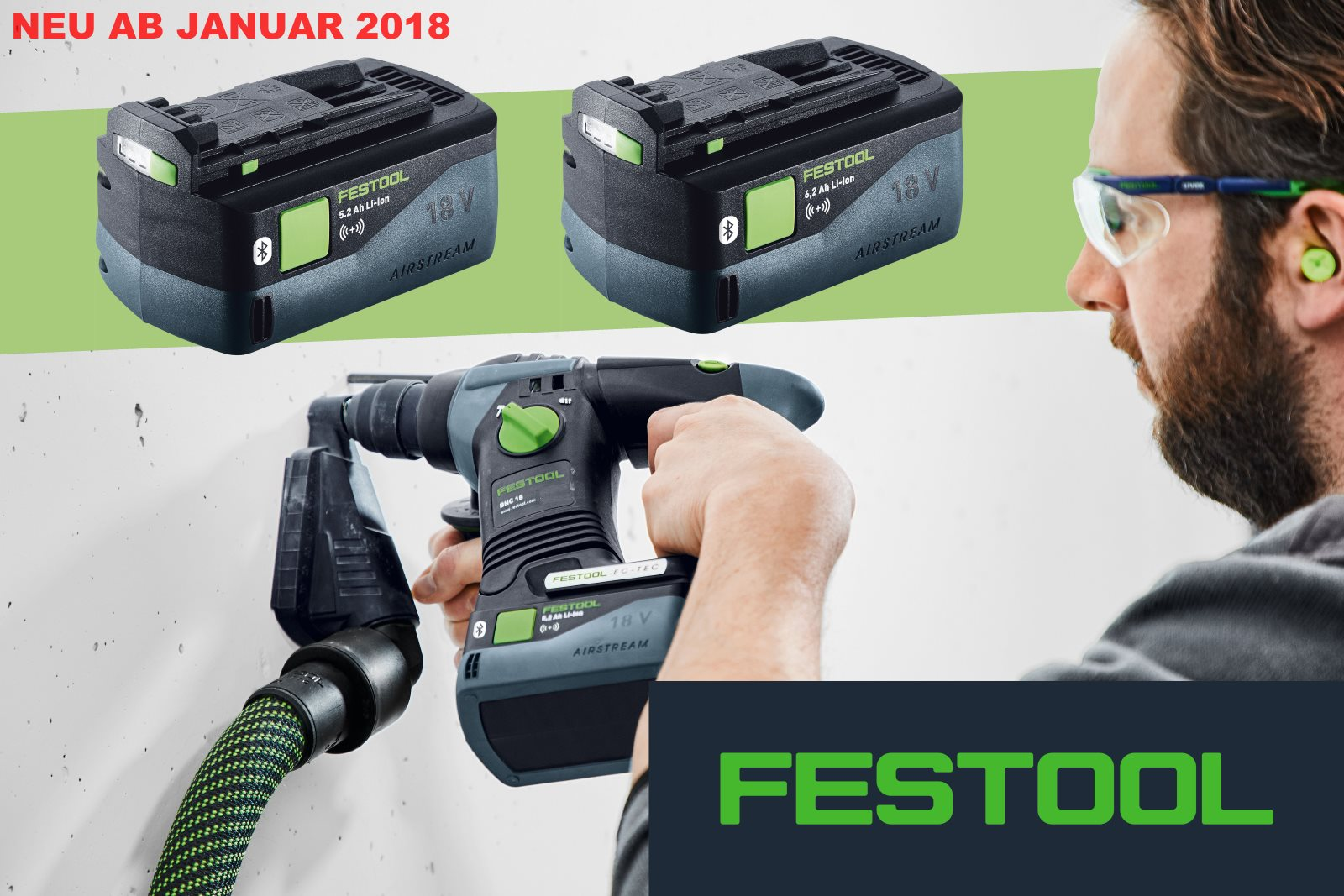 FESTOOL Bluetooth Akkus 5,2 Ah und 6,2 Ah