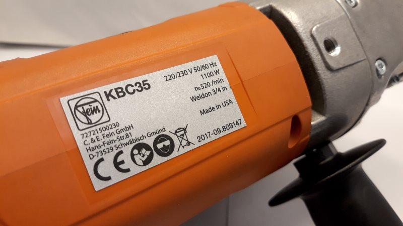 Fein KBC 35 Label