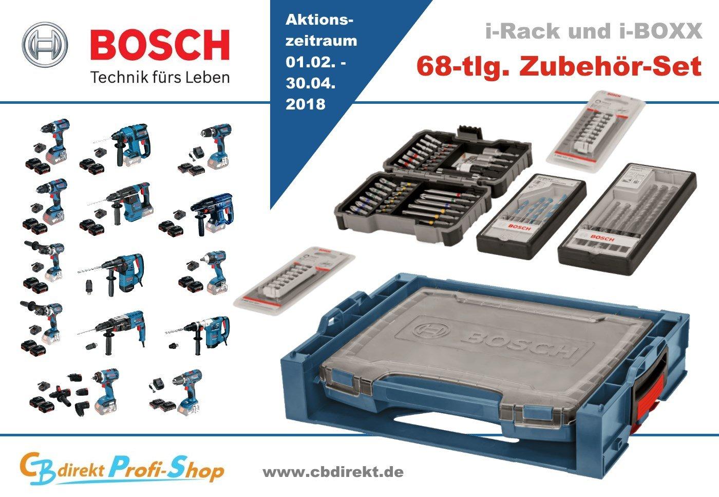 Bosch Aktion Elektrowerkzeug + 68-tlg. Zubehör Set 01.02.-30.04.18