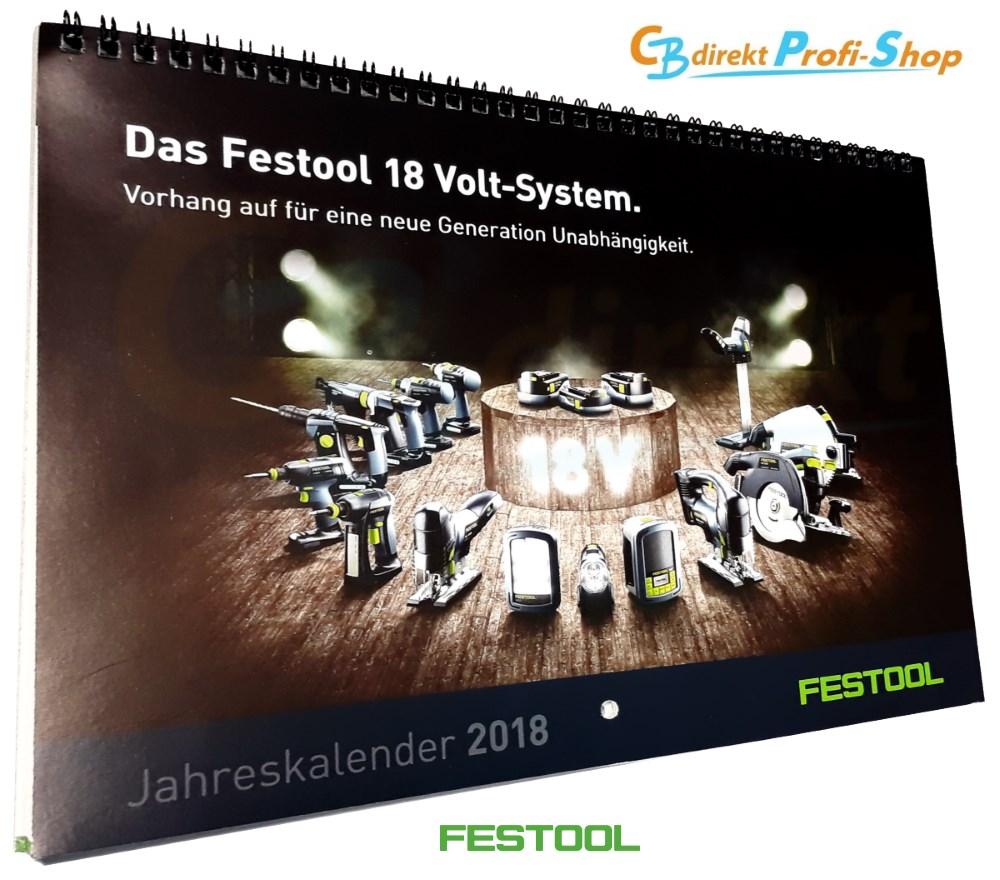 Festool Kalender 2018 Cover