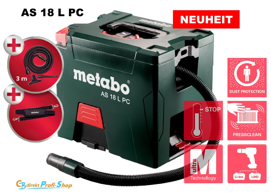 Metabo Akku-Sauger AS 18 L PC
