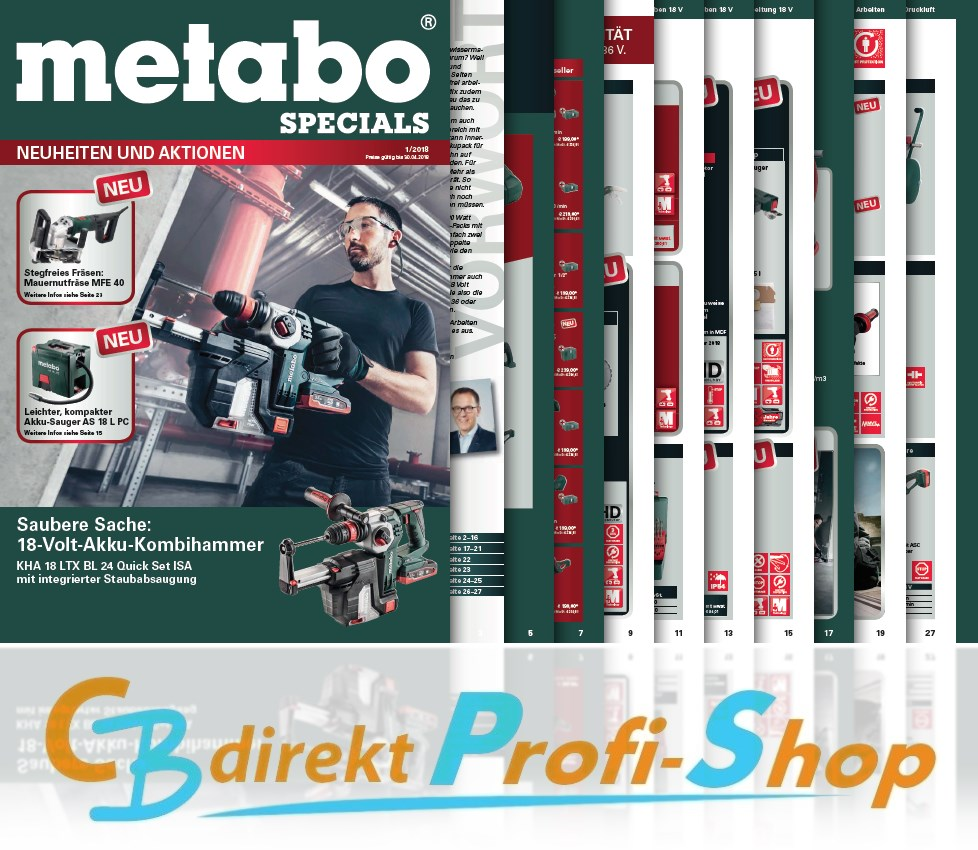 Metabo Neuheiten & Aktion 1-2018