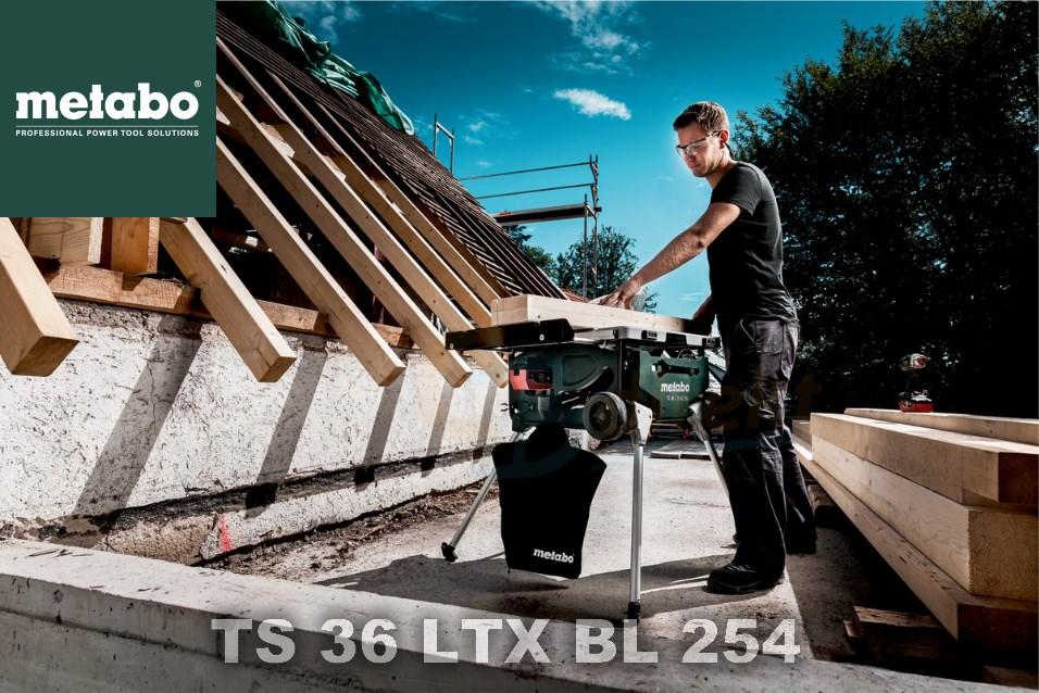 Metabo TS 36 LTX BL 254 Anwendung
