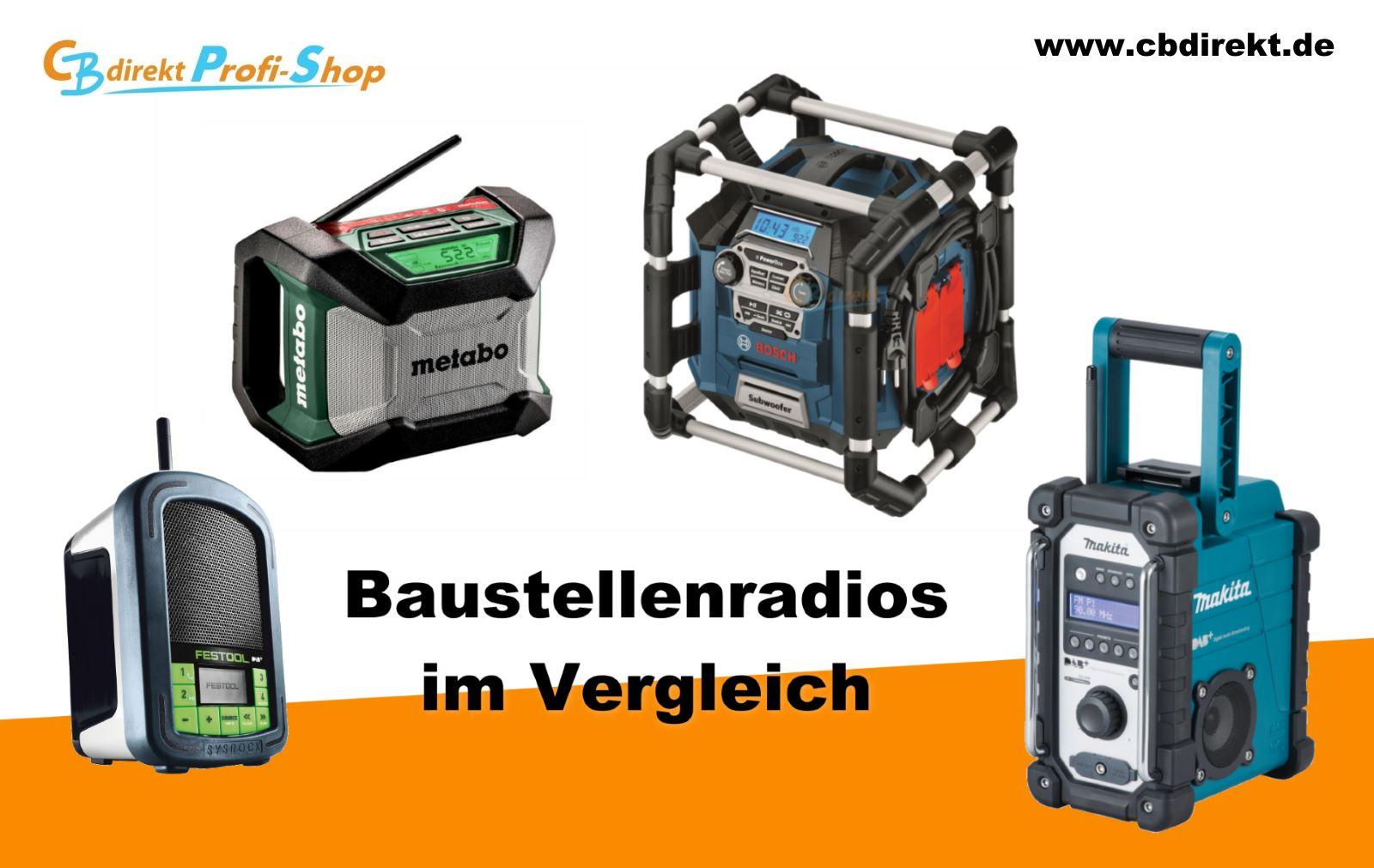 Baustellenradios im Vergleich Festool Bosch Makita Metabo