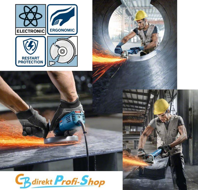 Anwendung Bosch GWS 9-125 S und Symbole
