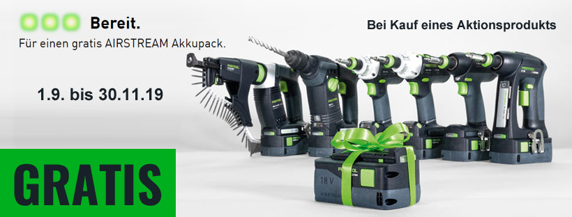Festool Gratis Airstream Akku