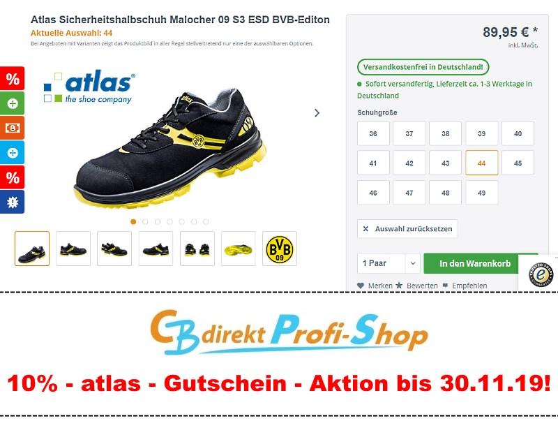 Atlas Sicherheitshalbschuh Malocher 09 S3 ESD BVB-Editon