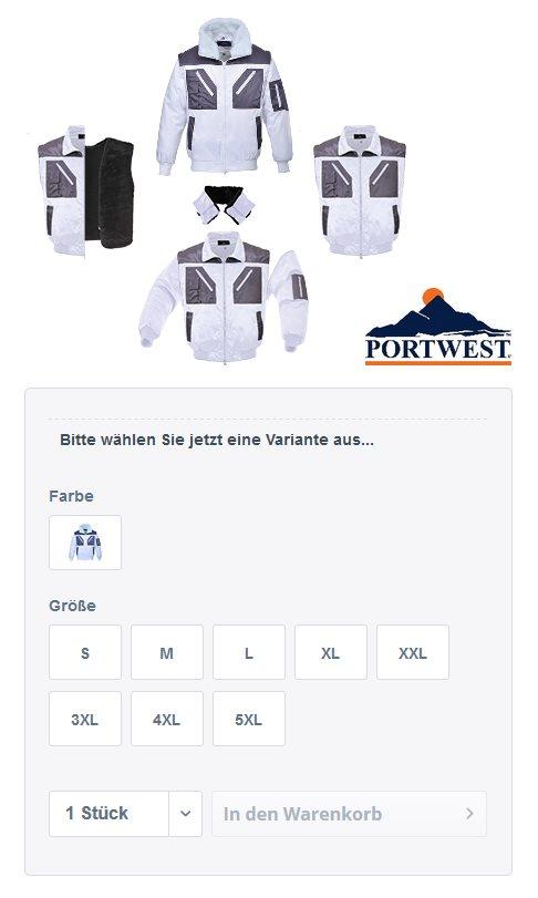 PORTWEST Pilotjacke PJ20