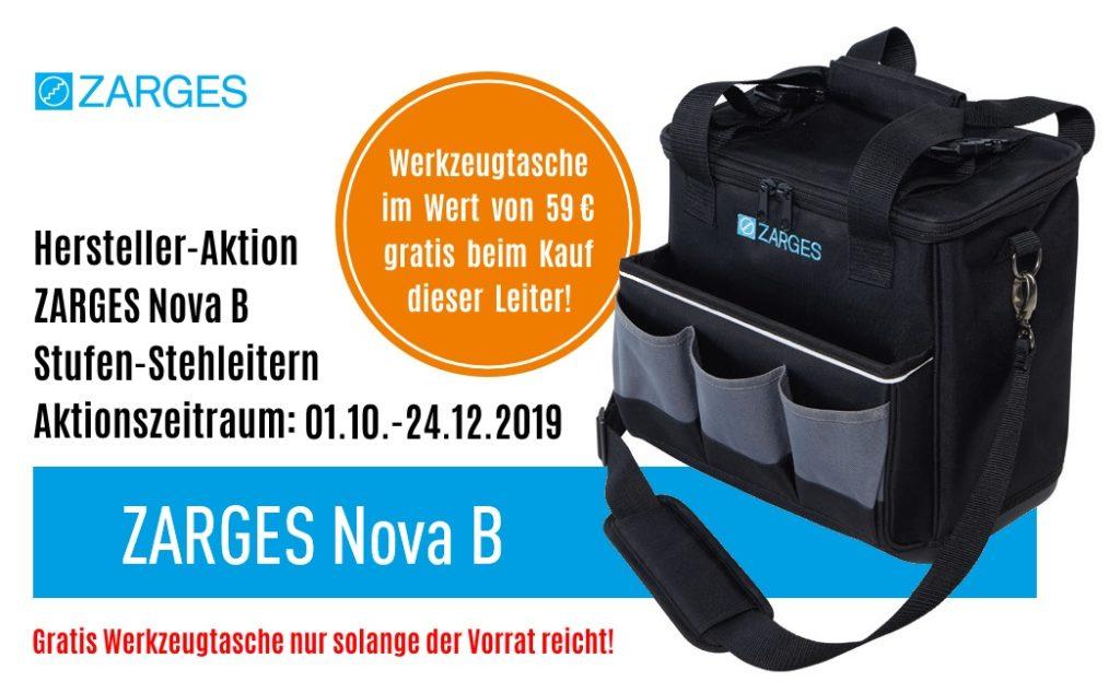 ZARGES Aktion Nova B 2019 plus gratis Werkzeugtasche