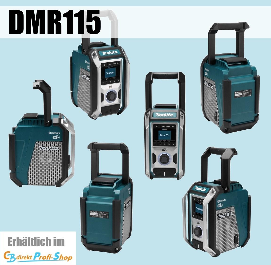 Akku-Baustellenradio Bluetooth DAB Makita DMR112 Netz- NEUHEIT