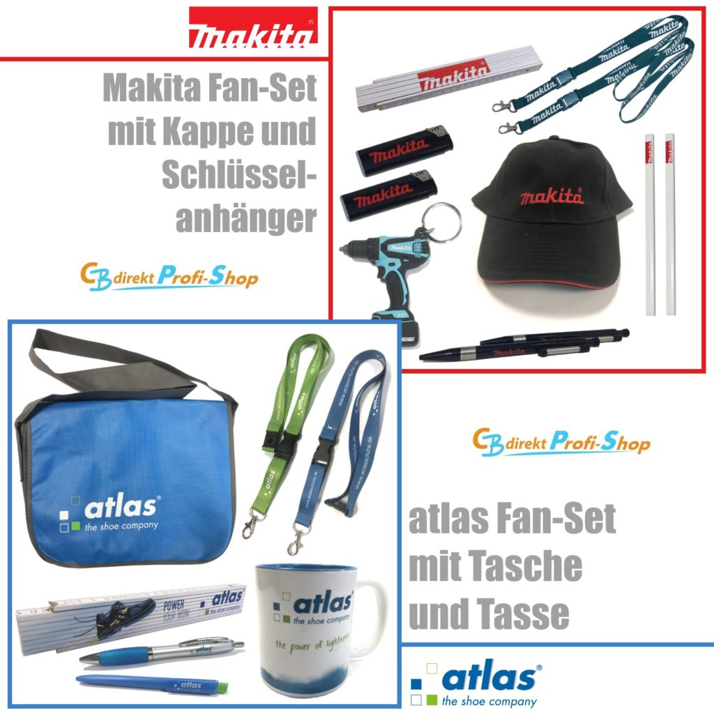 Fan-Sets Makita und Atlas bei CBdirekt