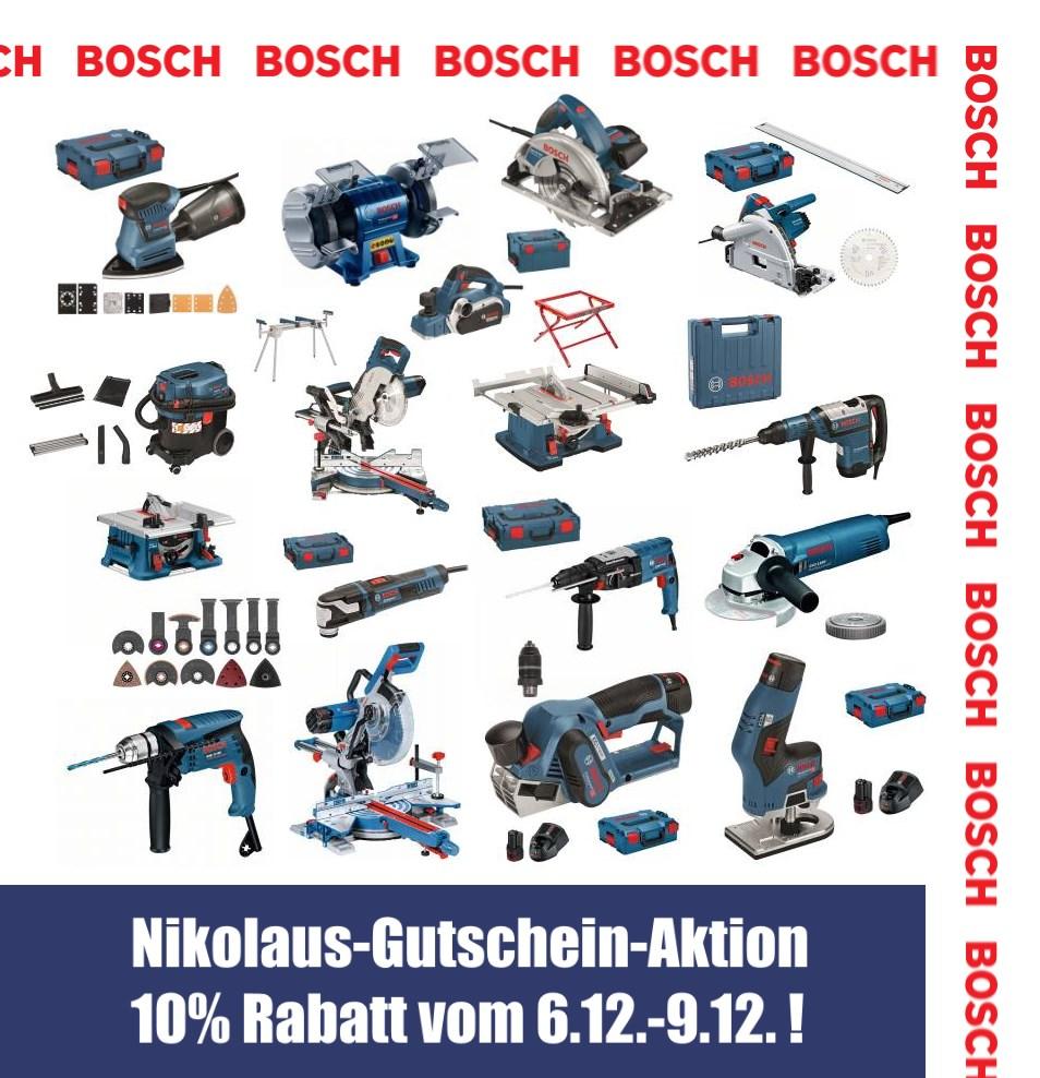 Nikolaus Gutscheinaktion CBdirekt 10% auf ausgewählte Bosch Produkte