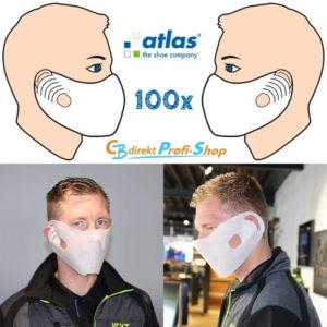 100er Pack Einweg Masken aus Vlies