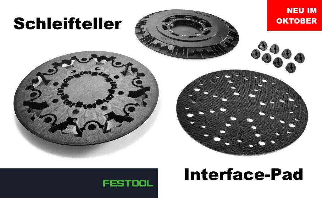 Festool Schleifteller und Interface-Pad für PLANEX LHS 2 225
