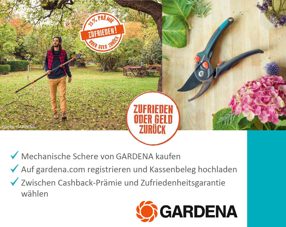 GARDENA PROMOTION 2020 Mechanische Scheren