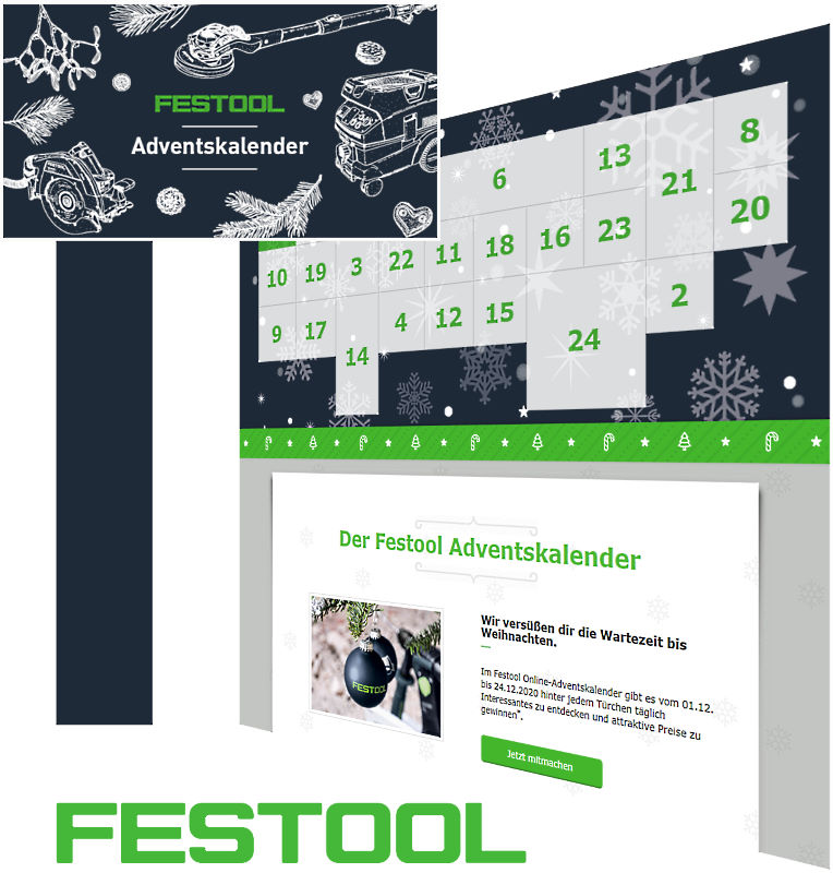 Festool Online-Adventskalender Gewinnspiel 2020